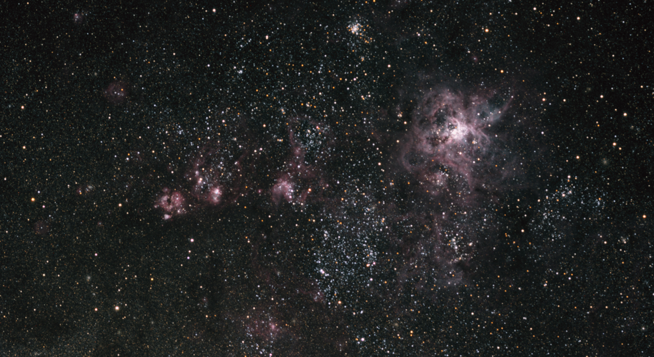 NGC 2070 -Tarantel-Nebel in der LMC (Large Magellanic Cloud) NGC 2070